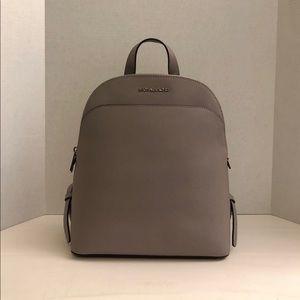 Michael Kors Pearl Grey Saffiano Backpack